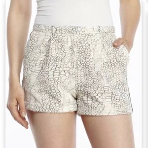 Philosophy snake skin looking shorts size 12